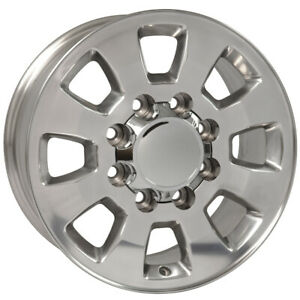 Polished Wheel 18 X 8 For 2001 2010 Chevy Silverado 2500 Hd Owh3973