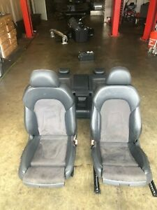 08 16 Audi A5 S5 Coupe Leather Suede Seat Set Front Rear Assembly Black White