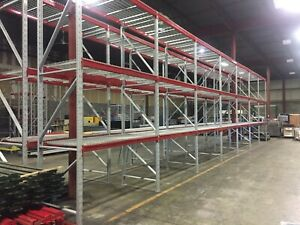 2 Section Of Warehouse Heavy Duty Pallet Racking 44 d X 168 h 14 h