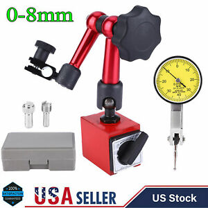 0 0 8mm Universal High Accuracy Lever Dial Test Indicator Base Holder Stand New