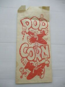 Coca - Cola :old popcorn  paper bag with Coca Cola logo on the back U.S.A  60's.