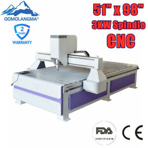 220v 51 X 98 1325 Ad And Woodworking Cnc Router Machine With 3kw Spindle