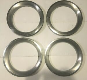 Preowned Oem Chevy Vintage 15x8 Beauty Trim Ring Set 4 Corvette C 10 Custom