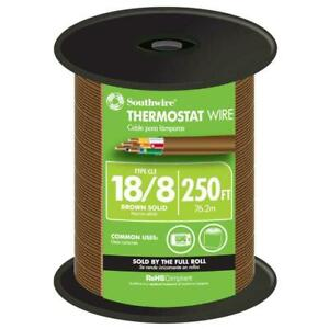 Southwire Thermostat Wire 250 Ft 18 8 Solid Copper Jacketed Brown 65676944