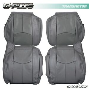 Leather Seat Cover Kit For 03 04 05 06 Chevy Tahoe Suburban 1500 Silverado gmc