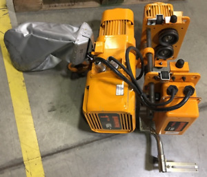 1 Ton Harrington Electric Chain Hoist With Trolley 230 460 Year 2014 14 Ft Per