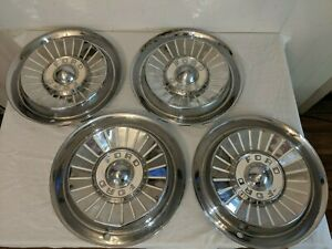 Set Of 4 1957 Ford Vintage 14 Hubcaps Fairlane Thunderbird Sunliner Galaxie 57