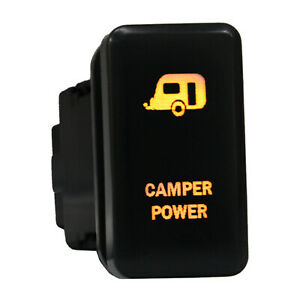 12v Push Switch 865o Camper Power Dual Led Amber On off For Toyota Tundra Tacoma