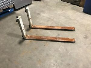 Pair Of Yale Electric Walkie Stacker Forks