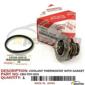 Toyota Lexus Factory Oem Coolant Thermostat 90916 03100 W Gasket 16346 50010