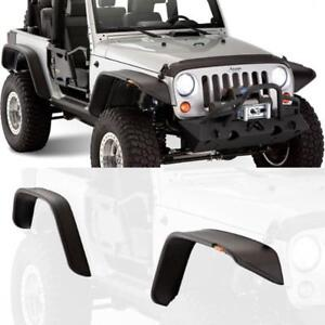 For 07 18 Jeep Wrangler Jk Black Unlimited sport Front rear Fender Flares 4pcs