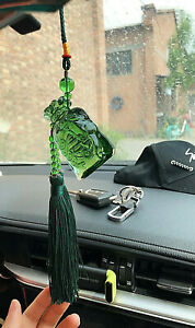 Auspicious Safety Glass Moneybag Pendant Car Rearview Mirror Hanging Ornament