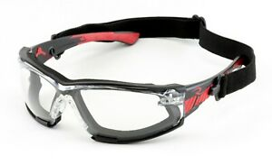 Radians Obliterator Iq Iquity Clear anti Fog Safety Glasses Foam Padded Goggles