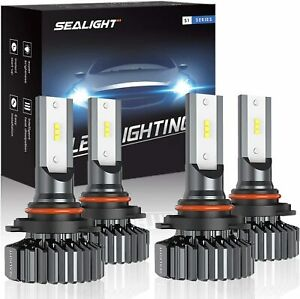 9006 hb4 9005 hb3 Led Headlight Bulbs High Low Beam Combo Package Sealight