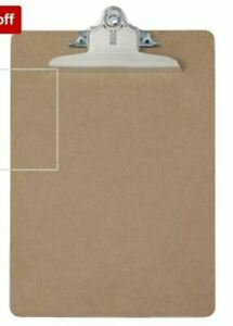 10 Pack Saunders Recycled Hardboard Clipboard Letter Size Brown Brand New