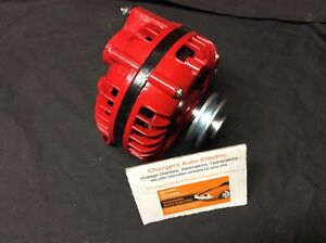 1964 1969 Plymouth Fury 100 Amp High Output Alternator Single Field Red