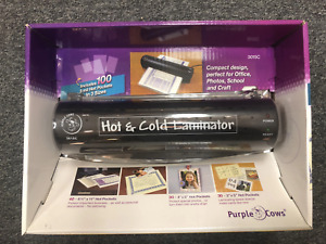 Laminator Purple Cows 3015c 9 Hot Cold Laminator With 100 3mil Hot Pockets