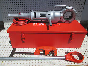 Ridgid 700 Pipe Threader W Npt 12r Heads And Dies Set Exc Tool