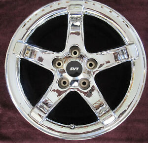 Set Of 4 Ford 2000 F150 Lightning Chrome Wheels 18x9 5 Original Oem