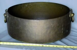 Massive Copper Cauldron Boiler Kettle Engraved Glyph Cuneiform 19th C Or Earlier