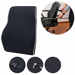 Office Car Seat Lumbar Support Back Cushion Washable Mesh Cover Memory Foam Us