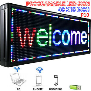 40 X 15 Led Scrolling Sign Full Color Led Signs Advertising Message Board