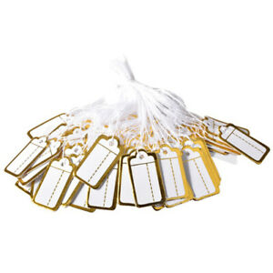 500pcs Label Tie String Strung Ticket Jewelry Merchandise Display Price Tags Set