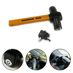 Heavy Duty Anti Theft Security Rotary Car Steering Wheel Lock Mount Fr Suv Auto