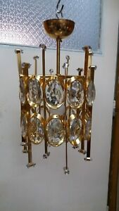 Vintage Palwa Crystal Chandelier Pendant From 1960 70