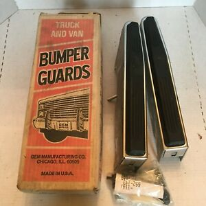 1994 Dodge Plymouth Pickup Ram Front Bumper Guards Bumperets New In Box