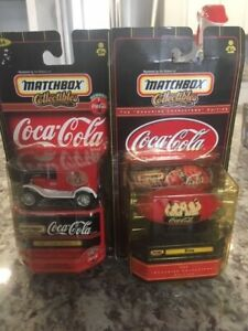 2 NEW Coca Cola Collectables Matchbox 1921 Ford Model T and Blimp
