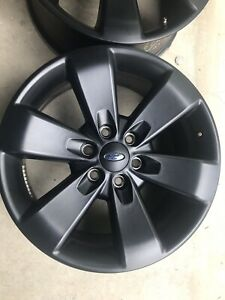 20 Ford F150 Black Expedition Fx Oem Factory Stock Wheels Rims 6x135