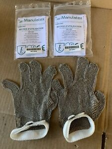 Manulatex Stainless Steel Glove Lot Of 2