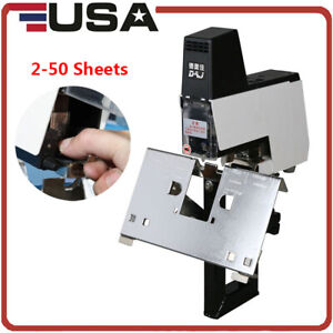 220v Updated 106 Electric Stapler Rapid Binder Machine 2 50 Sheets With Pedal Us
