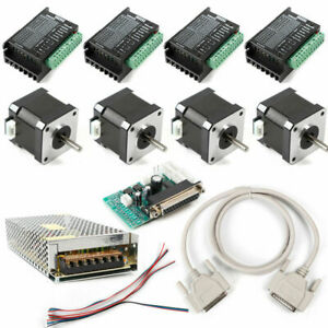 4 Axis Nema17 Stepper Motor 40mm 48oz in dm432 Driver Db25 Cnc Controller Kit