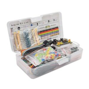 Electronics Component Basic Starter Kit With 830 Tie points Breadboard Cab R7h8