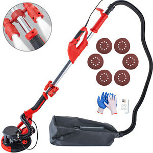 Drywall Sander 750w Wall Grinding Extendable 5 Speeds W Led Light Vacuum Bag