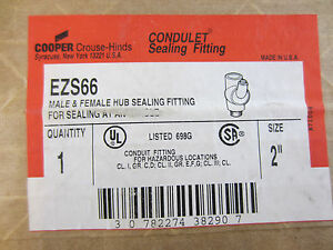 Crouse Hinds Ezs66 2 Condulet Sealing Fitting Ezs6