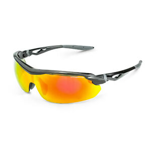Crossfire Cirrus Red Mirror Black Safety Glasses Sunglasses Shooting Z87