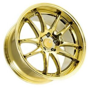Aodhan Ds02 18x9 5 30 5x114 3 Gold Vacuum Chrome Wrx Is300 Civic Si Lancer Tl