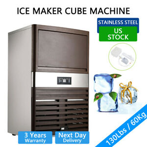 130lbs Built in Commercial Ice Maker Cube Machine Undercounter Freestand Us Ship