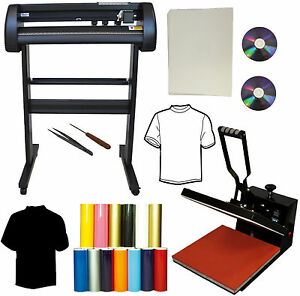 28 24 500g Laser Point Vinyl Cutter Plotter 15x15 Heat Press transfer Bundle