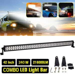 New 42inch 240w Double Row Led Light Bar Slim Spot Flood Combo Wiring Lamp Ht