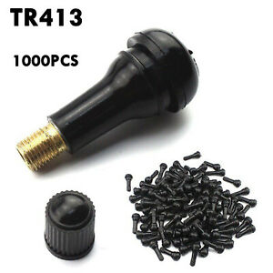 1000pcs Tr 413 Snap In Tire Valve Stems Short Rubber Universal For Most Cars