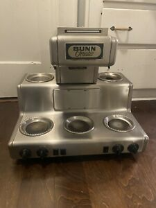 Vintage Bunn Commercial Coffee Maker Crtf5 35 5 Warmers