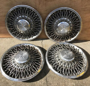 Nos Vintage Chrysler Dodge Plymouth Wire Spoke Hubcaps Wheel Covers Set Of 4 15