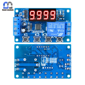 4 digit 12v Led Display Adjustable Delay Relay Programmable Timer Control Switch