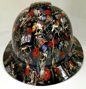 New Full Brim Hard Hat Custom Hydro Dipped Till Death Do Us Part La Street Life
