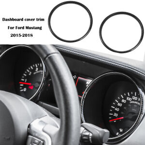 Carbon Fiber Interior Dashboard Cover Trim Ring Decor For Ford Mustang 2015 2019