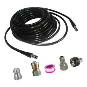 Pressure Washer Sewer Cleaning Pipe Jetter Set Anti explosion Water Pipe 30m